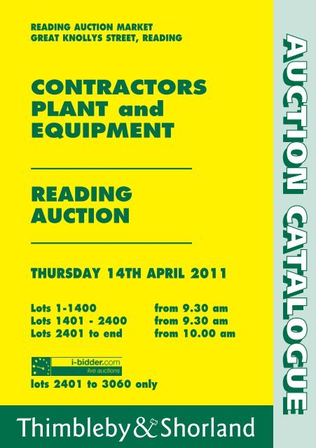 Contractors Plant And Equipment Reading Auction