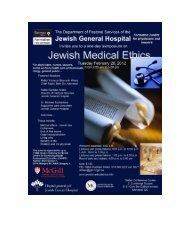 Rabbi Weiss - Jewish Medical Ethics Symposium