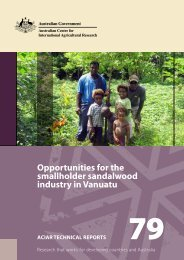 Opportunities for the smallholder sandalwood industry in ... - ACIAR