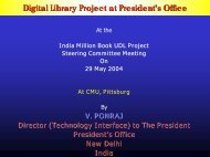 Presentation on E-Governance - Digital Library of India