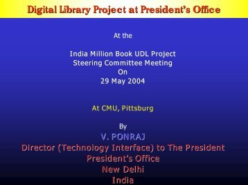 Presentation on E-Governance - Digital Library of India