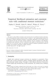 Empirical likelihood estimation and consistent tests with conditional ...