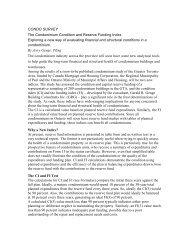 CONDO SURVEY The Condominium Condition and Reserve ...