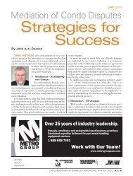 Strategies for Success - Association of Condominium Managers of ...