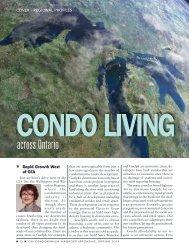 across Ontario - Association of Condominium Managers of Ontario