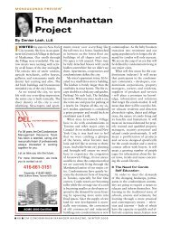 the Manhattan Project - Association of Condominium Managers of ...