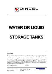 Water or Liquid Storage Tanks - Dincel Construction System