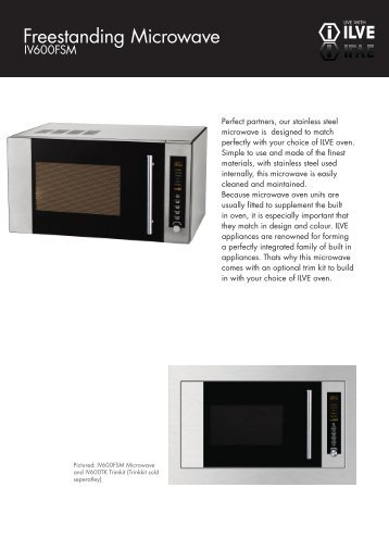 Freestanding Microwave Ilve