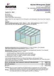 Wohn Wintergarten, detailliertes Angebot (.pdf) - Nüchter ...