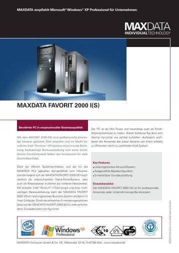 MAXDATA FAVORIT 2000 I(S)
