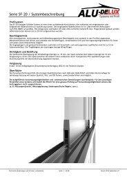 Serie SF-20 / Systembeschreibung - AluDelux Systeme mit Profil ...