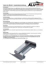 Serie GL-DELUX / Systembeschreibung - AluDelux Systeme mit ...
