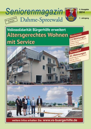 Seniorenmagazin Dahme Spreewald - 4. Ausgabe 2014