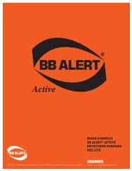 Download Installation & Usage Guide for BB ALERT ® - PDF File