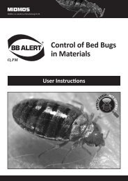 Control of Bed Bugs in Materials - Bed Bug Information