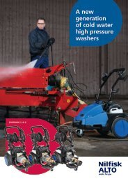 A new generation of cold water high pressure washers - Wap