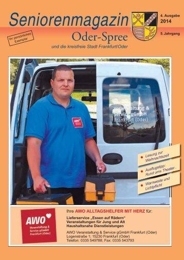 Seniorenmagazin Oder Spree - 4. Ausgabe 2014