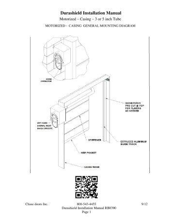 Casing Motorized - Installation Instructions - Chase Doors  sc 1 st  Yumpu : wiring instructions chase - yogabreezes.com