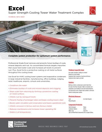Super Strength Cooling Tower Water Treatment Complex