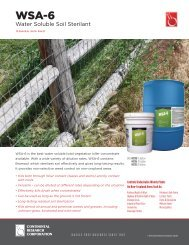 Water Soluble Soil Sterilant - Continental Research Corporation