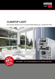 CLIMATOP LIGHT - FensterART GmbH & Co KG