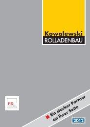 Unser aktueller Rollladenkatalog (2012) - Kowalewski Rolladenbau