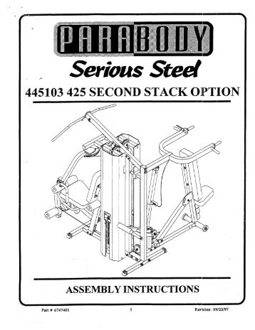 New! parabody 350 exercise chart.pdf