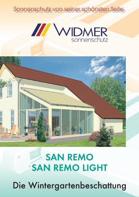 SAN REMO SAN REMO LIGHT Die ... - WIDMER