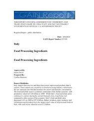 Food Processing Ingredients - Chilealimentos