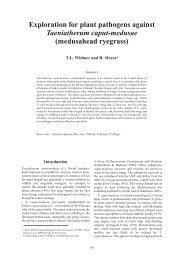Exploration for plant pathogens against Taeniatherum ... - Invasive.org