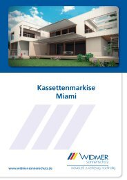 Kassettenmarkise Miami - WIDMER