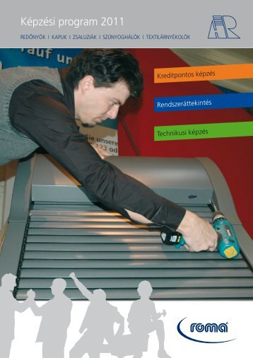 Képzési program 2011 (PDF) - Alu-Redőny Kft.