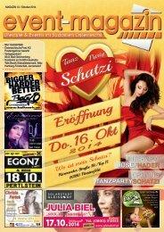 Event-Magazin mit Regional-Tipp   Ausgabe 12.   Oktober 2014