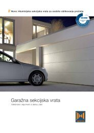 Garažna sekcijska vrata - FESTA