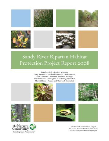 Sandy River Riparian Habitat Protection Project ... - Invasive.org