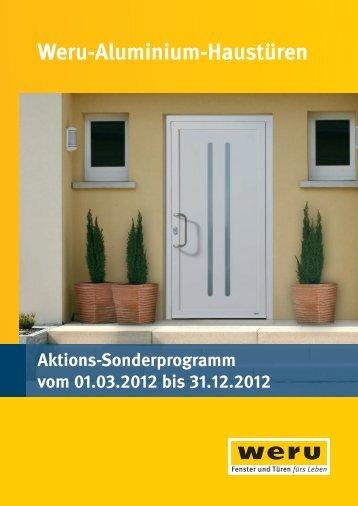 Weru-Aluminium-Haustüren