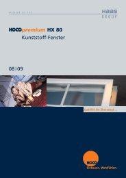 premium HX 80 Kunststoff-Fenster 08 09 - Hoco