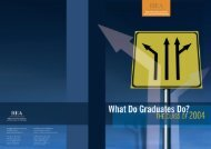 What do Graduates do? The Class of 2004 - Higher Education ...