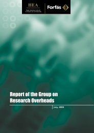 Report of the Group on Research Overheads - Higher Education ...