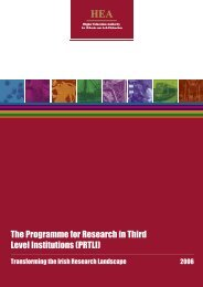 The Programme for Research in Third Level Institutions - Higher ...