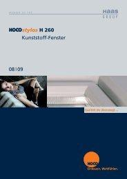 stylos H 260 Kunststoff-Fenster 08 09 - Hoco