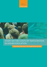 study on the costs of participation in higher education