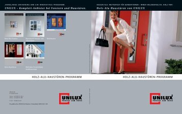 holz-alu-haustüren-programm holz-alu-haustüren ... - Unilux AG