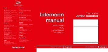 Internorm manual
