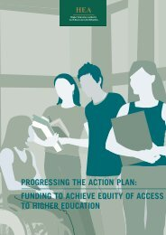 progressing the action plan: funding to achieve equity of access