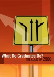 The Class of 2006 - Higher Education Authority
