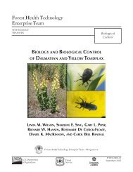 Biology and Biological Control of Dalmatian and Yellow Toadflax