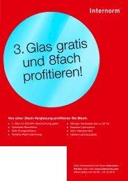 Internorm Aktion 3. Glas gratis und 8fach profitieren