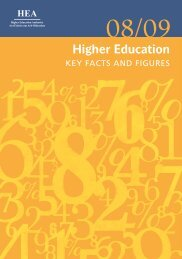 Key Facts & Figures 2008-09 - Higher Education Authority