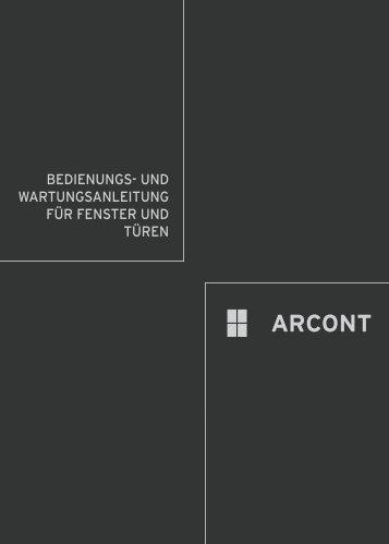 BEDIENUNGS- UND WARTUNGSANLEITUNG FüR ... - Arcont IP